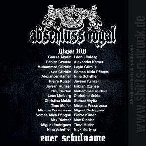 Abschluss Sprüche Royal Namensliste