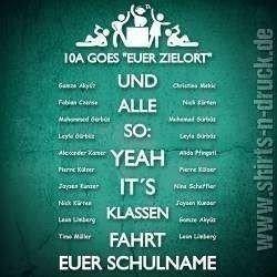 klassenfahrt sprüche Namensliste YEAH its Klassenfahrt .shirts n druck.de klassenfahrt sprüche